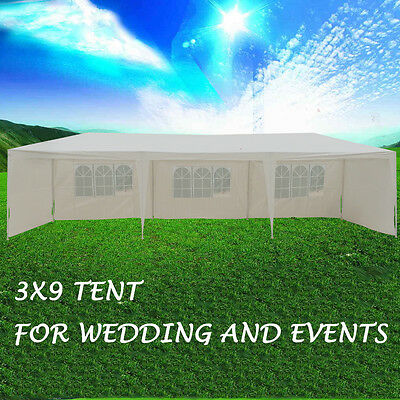 Hot sale 3x9m New Gazebo Wedding White Outdoor Marquee Tent Party Canopy Folding