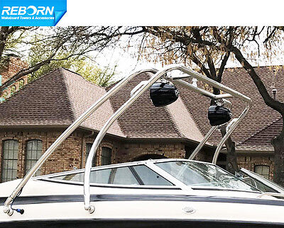 Reborn Swept Forward Wakeboard Tower | Universal Fit | Polished | 5 Yrs Wrty