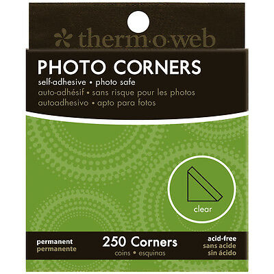 """Photo Corners Boxed 250/Pkg-Clear, Set Of 4"""