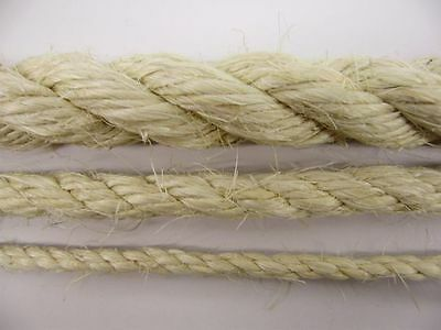 NEW SISAL NATURAL ROPE 6mm 8mm 10mm 12mm CAT SCRATHER PET ROPE BY THE METRE