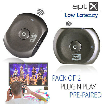 Avantree Saturn Pro Pack of 2 low latency Bluetooth audio receiver & transmitter