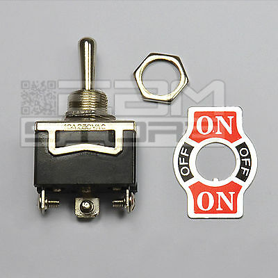 interruttore 10A ON-OFF-ON 1 via a levetta da pannello deviatore leva -ART. HH03