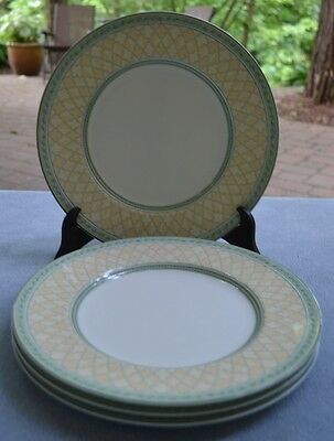 FOUR Fitz and Floyd Monterey Dinner Plates