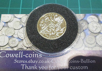 2016 £1 COIN LAST ROUND POUND BUnc PRESENTED ENCAPSULATED