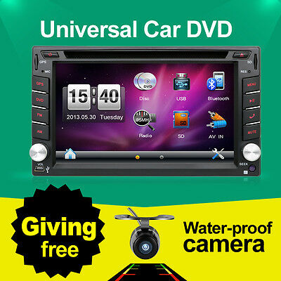 2Din Audio Video Radio Double Car DVD Player GPS Navigation In Dash PC Stereo HD