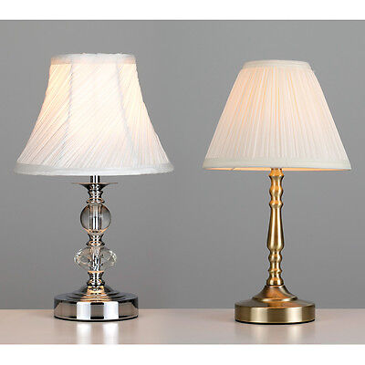 Chrome antique brass glass jewel touch dimmer table lamp bedside lights new - Bedside lamps with dimmer ...