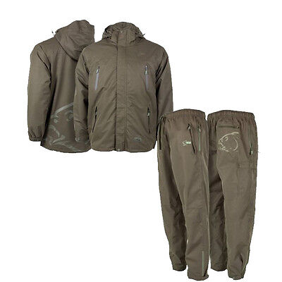 Nash Tackle NEW Waterproof Jacket & Trousers Combo Fishing Clothing *All Sizes*