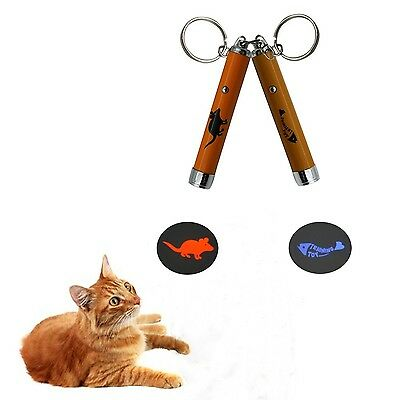 Baby Pet Cat Interactive Mice LED Light Pointer Cat Exercise Chaser Toys Pet ...