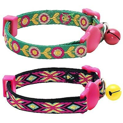 Blueberry Pet Pack of 1 Adjustable Breakaway Ethnic Inspiration Cat Collar wi...