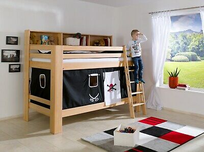 bett vorhang f r hochbett etagenbett stoffset fenster spielh hle eur 25 00 picclick de. Black Bedroom Furniture Sets. Home Design Ideas