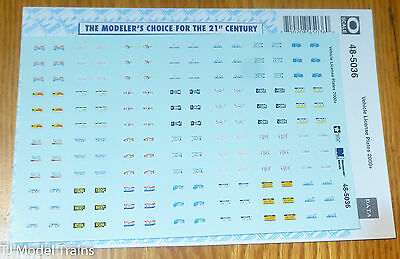 Microscale Decal O #48-5036  Vehicle License Plates 2000+ (Decal Sheet)