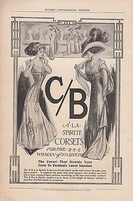 1909 C B a la Spirite Corsets Ad: For the Woman of Fashion Moulds Your Form