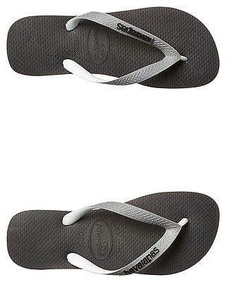 New Havaianas Men's Top Mix Thong Steel Mens Shoes Black