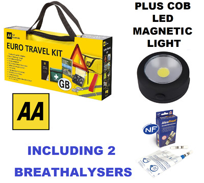 AA Car Euro Travel Kit - Including 2 Pack Breathalyser  - With Tracked Courier