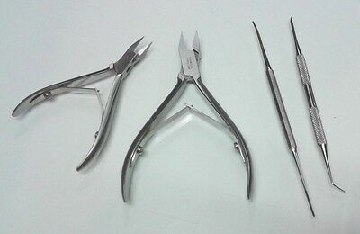 Podiatry Instruments Ingrown Black File, Lifer  Ingrown Nail Cutters kit