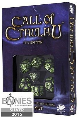Call of Cthulhu 7th Edition Dice Set Schwarz & Grün
