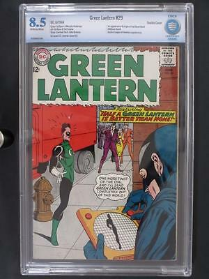 Green Lantern #29 - CBCS 8.5 VF+ DC 1964 - 1st App The Black Hand - Double Cover