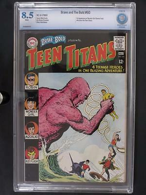 Brave and The Bold #60 - CBCS 8.5 VF+ DC 1965 - 2nd App of The Teen Titans!!!