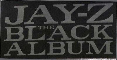 Jay-Z The Black Album RARE promo sticker '03