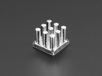 "Aluminum SMT Heat Sink - 0.5""x0.5"" square"