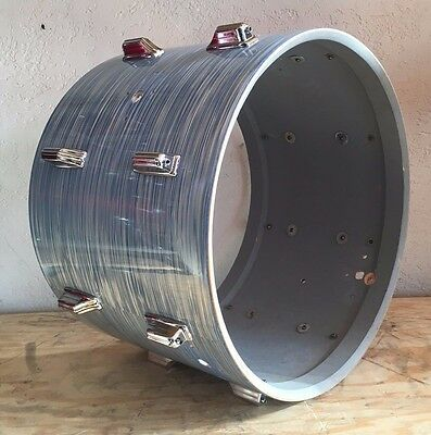 "Vintage 1960's Rogers Blue Ripple 14x20"" Bass Drum Shell w/ Lugs"