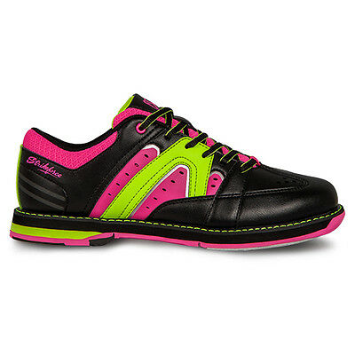 KR Strikeforce Quest Black/Pink/Yellow Womens Bowling Shoes