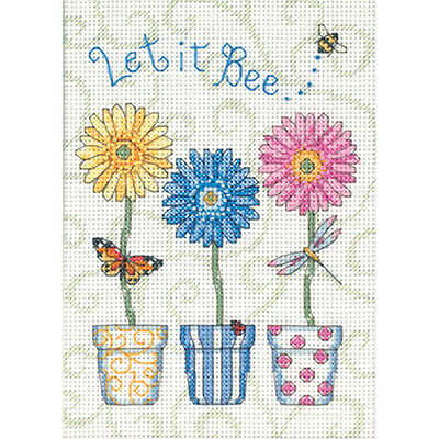 "Jiffy Let It Bee... Mini Counted Cross Stitch Kit-5""X7"" 14 Count"