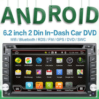 Universal Android 4.4 Car Radio Double 2 Din Car DVD Player USB Ipod Cam In Dash