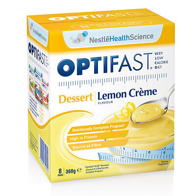 New 46g X 8 Optifast Weight Loss Diet Drink Dessert Lemon Creme Low Calorie