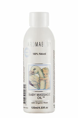 New 125ml Aromababy Baby Massage Oil w/ Organic Lavender & Rose Body Wash