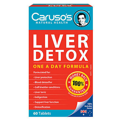 Caruso's Natural Health Quick Cleanse Liver Clear Detox Tab X 60