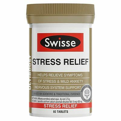 New 60pc Swisse Stress Relief Tablets Ultiboost Energy Nutritional Support