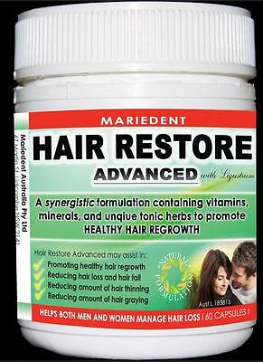 New 60 Caps Mariedent Hair Restore Advanced Health Supplement Men & Women