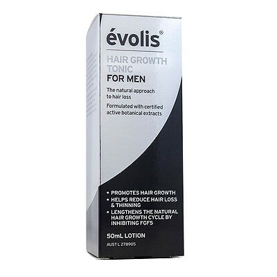 New 50ml Evolis Hair Growth Tonic for Men Anti Hair Loss & Thinning Regrowth