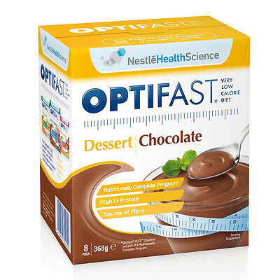 New 46g X 8pc Optifast Dessert Diet Chocolate Mousse Low Calorie Snack Sweets