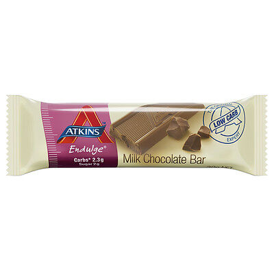 New 30g Atkins Endulge Milk Chocolate Bars Healthy Candy w/ Only 1g Sugars
