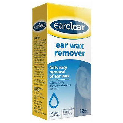 New 12ml Ear Clear Ear Wax Remover Painless Antiseptic w/ Carbamide Peroxide