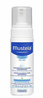 New 150ml Mustela Foam Shampoo For Newborns Baby Hair Care Scalp Anti-Dandruff