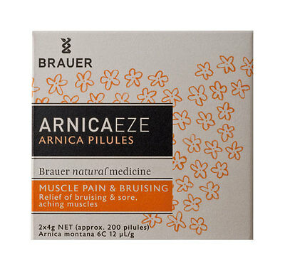 New X 200 Brauer Arnica Pilules Natural Medicine Relieves Muscle Pain & Bruising