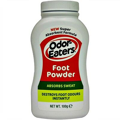 New 100g Odor Eaters Foot Powder Sweat Absorbing Dry Talc Odour Protection