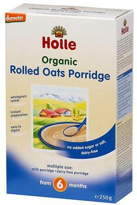 New 250g Holle Porridge Organic Rolled Oats Wholegrain Cereal From 6 Months