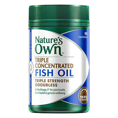 New 1500mg X 90 Capsules Nature's Own Fish Oil Capsules Odourless Omega 3