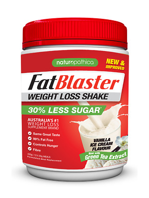 430g FatBlaster Weight Loss Shake Vanilla Ice Cream Meal Replacement Diet Drink