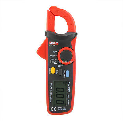 H● UNI-T UT210B True RMS 200A AC Mini Clamp Meter LCD Ammeter With NCV Test