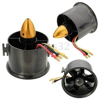 70mm Duct Fan Unit 2839-3000KV Brushless Outrunner Motor for RC EDF Jet AirPlane