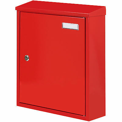 Red Wall Mounted Locking Outdoor Mailbox/postbox Letter/mail/post Box Large