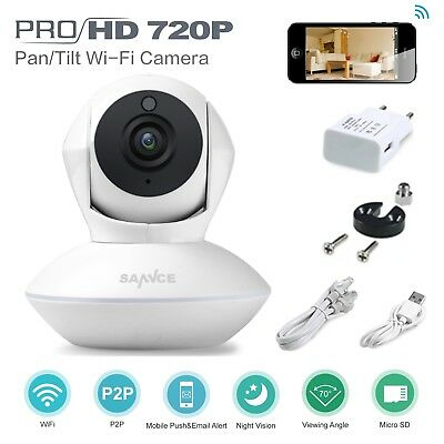 SANNCE Wireless 1x 720P IP Camera WiFi Night Vision IR Indoor Security CCTV Home
