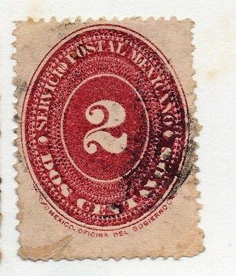 Mexico 1886 Early Issue Fine Used 2c. 076458