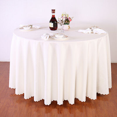 90 ronde nappe de table housse en polyester banquet f te de mariage eur 99 99 picclick fr. Black Bedroom Furniture Sets. Home Design Ideas