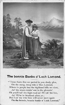POSTCARD  SONG CARDS  BAMFORTH  The  bonnie Banks o'  Loch  Lomond